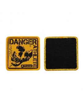 Patch Ecusson Warning Athlete by GANO pour sac à dos militaire