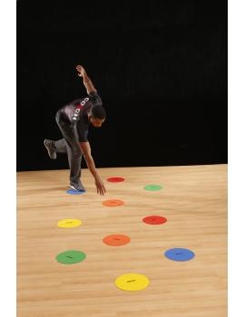 Lot de 10 disques d'agilité multicolores