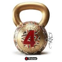 MA-GNI-FI-QUE ‼️ Voilà ce qui arrive quand l'artiste @ganneau_gano s'attaque à nos kettlebells 😍 ! Merci pour  ce clin d'œil artistique. De toute beauté !  #4trainer #art #Kettlebell #goldenKettle #design #sportart #artwork #preparationphysique #gano
