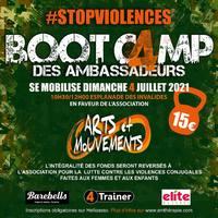 🔥BOOTCAMP SOLIDAIRE🔥  Le Bootcamp des Ambassadeurs #4Trainer se mobilise cette année encore au profit de l'association @artsetmouvements qui lutte contre les violences conjugales faites aux femmes et aux enfants .  Rejoignez-nous le dimanche matin 4 Juillet sur l'Esplanade des Invalides à Paris pour une séance d'entraînement en extérieur !  Votre participation de 15€ permettra aux  bénévoles de l association de poursuivre leurs actions au quotidien.   💯% des fonds récoltés seront reversés à l'association !  💶Tarif 15€ 🗓 Dimanche 4 juillet 10h30 📍 Esplanade des Invalides Paris 🏋️♀️Ouvert à tous !  ➡️ Inscriptions en bio   🙏 Partenaires de l'événement  @elitenaturelfr   @beatrice_elite_naturel  @barebellsfrance   #STOPVIOLENCES #bootcamp #solidaire #entrainement #sportsolidaire   Merci de partager l'info 🙏